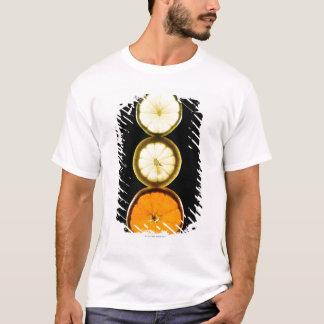 Lime,Grapefruit,Lemon,Fruit,Black background T-Shirt