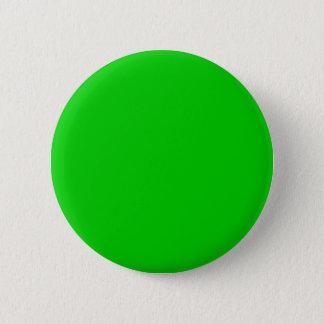 Lime green 00cc00 pinback button
