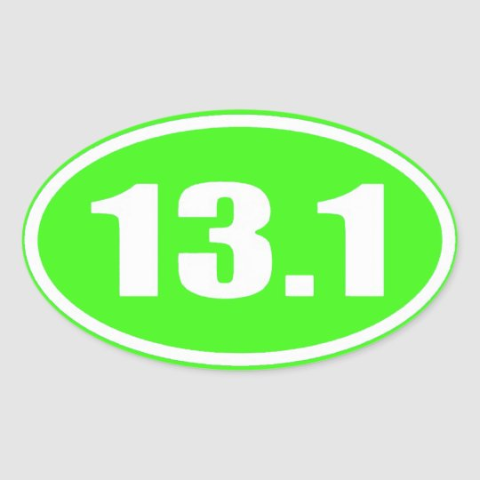 Lime Green 13.1 Sticker | Half Marathon