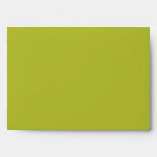 Lime Green 5x7 Envelopes