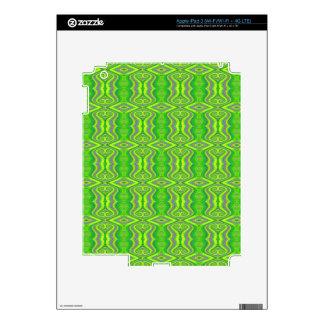 Lime Green 60's Retro Fractal Pattern iPad 3 Skins