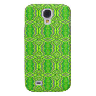 Lime Green 60's Retro Fractal Pern Samsung Galaxy S4 Case