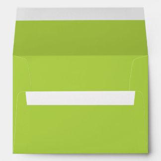 Lime Green A7 Envelope