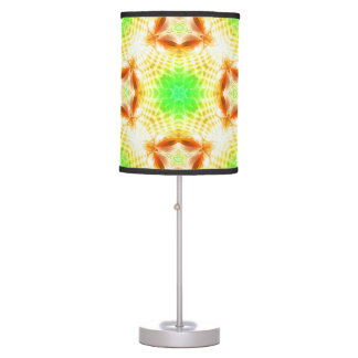 Lime Green abstract colorburst accent table lamp