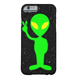 Lime Green Alien with Black Stars in the Sky Barely There iPhone 6 Case