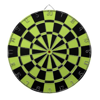 Lime Green And Black Dart Boards