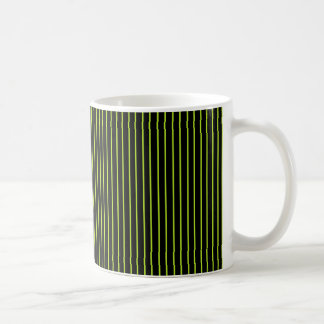 Lime Green and Black Pinstripe Mug