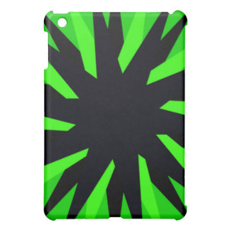 Lime Green and Black Star iPad Mini Covers