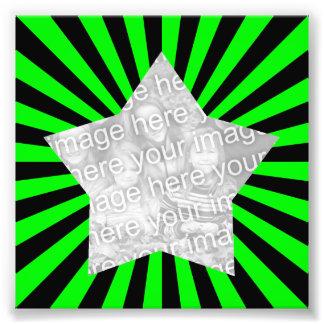 Lime Green and Black Starburst Frame Photo