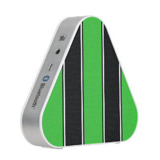 Lime Green and Black-Striped Bluetooth Speaker