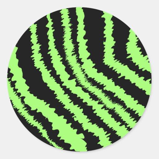 Lime green and black zebra print pattern stickers zazzle