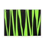 Lime Green and Black Zebra Stripes Animal Pattern Cases For iPad Mini