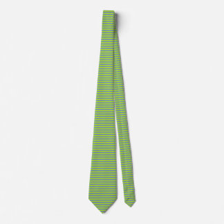 Lime Green and Blue/Grey Stripes Neck Tie