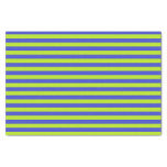 Lime Green and Blue Stripes Tissue Paper
