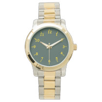 Lime Green and Dairy Gold Wrist Watch