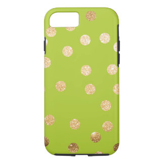 Lime Green and Gold City Dots iPhone 7 Case