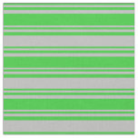[ Thumbnail: Lime Green and Grey Stripes Fabric ]