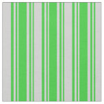 [ Thumbnail: Lime Green and Light Grey Colored Stripes Fabric ]