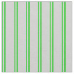 [ Thumbnail: Lime Green and Light Grey Lines Pattern Fabric ]
