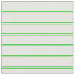 [ Thumbnail: Lime Green and Mint Cream Lines Fabric ]