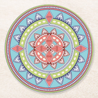Lime Green and Pink Mandala Coasters