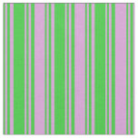 [ Thumbnail: Lime Green and Plum Colored Lines Pattern Fabric ]
