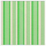 [ Thumbnail: Lime Green and Tan Colored Stripes/Lines Pattern Fabric ]