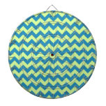 Lime Green and Teal Chevron Dart Boards
