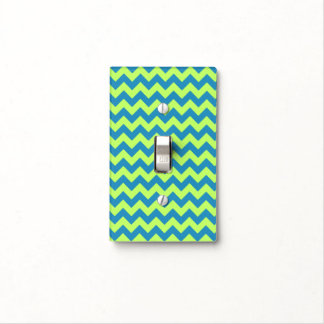 Lime Green and Teal Chevron Light Switch Cover