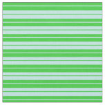 [ Thumbnail: Lime Green and Turquoise Striped Pattern Fabric ]