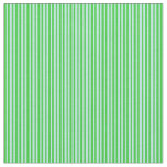[ Thumbnail: Lime Green and Turquoise Stripes Pattern Fabric ]