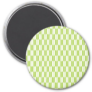 Lime Green and White Arrow Tails Refrigerator Magnets