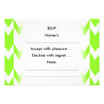 Lime Green and White Chevron Pattern. Personalized Invites