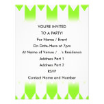 Lime Green and White Chevron Pattern. Invite