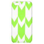 Lime Green and White Chevron Pern. Case For iPhone 5C