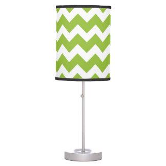 Lime Green Desk Lamp: Lime Green and White Chevron Stripe Desk Lamp,Lighting