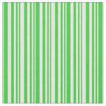 [ Thumbnail: Lime Green and White Colored Stripes Pattern Fabric ]