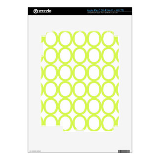 Lime Green and White Splash of O's iPad 3 Decals