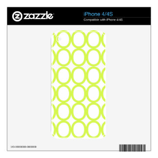 Lime Green and White Splash of O's Skins For The iPhone 4