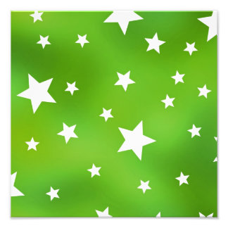 Lime Green and White Star Pattern Art Photo