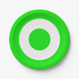 Lime Green And White Wedding / Party Circles Paper Plate
