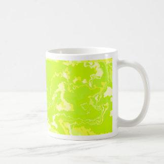 Lime Green and Yellow Squiggle Design Coffee Mug