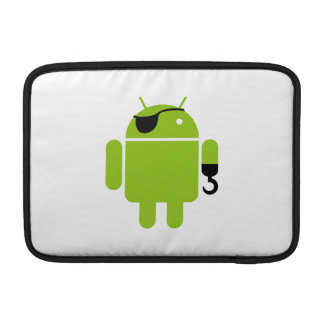 Lime Green Android Robot Pirate Sleeves For MacBook Air