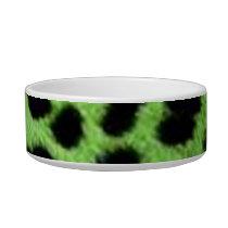 lime green animal print bowl
