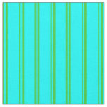 [ Thumbnail: Lime Green & Aqua Lines/Stripes Pattern Fabric ]