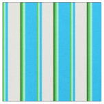 [ Thumbnail: Lime Green, Aquamarine, Blue, White & Dark Green Fabric ]