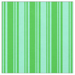[ Thumbnail: Lime Green & Aquamarine Colored Lined Pattern Fabric ]
