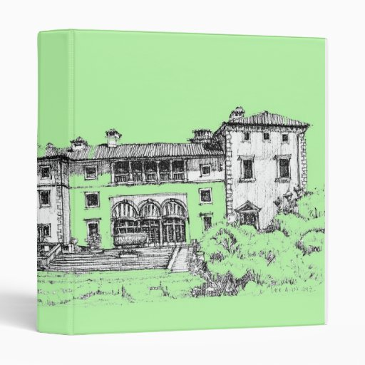 lime green architecture binder