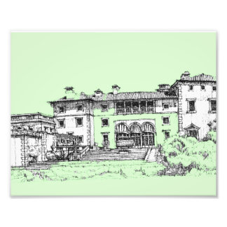 lime green architecture photo print