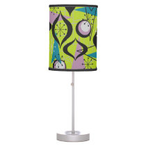 Lime Green Atomic Fifties Style Lamp